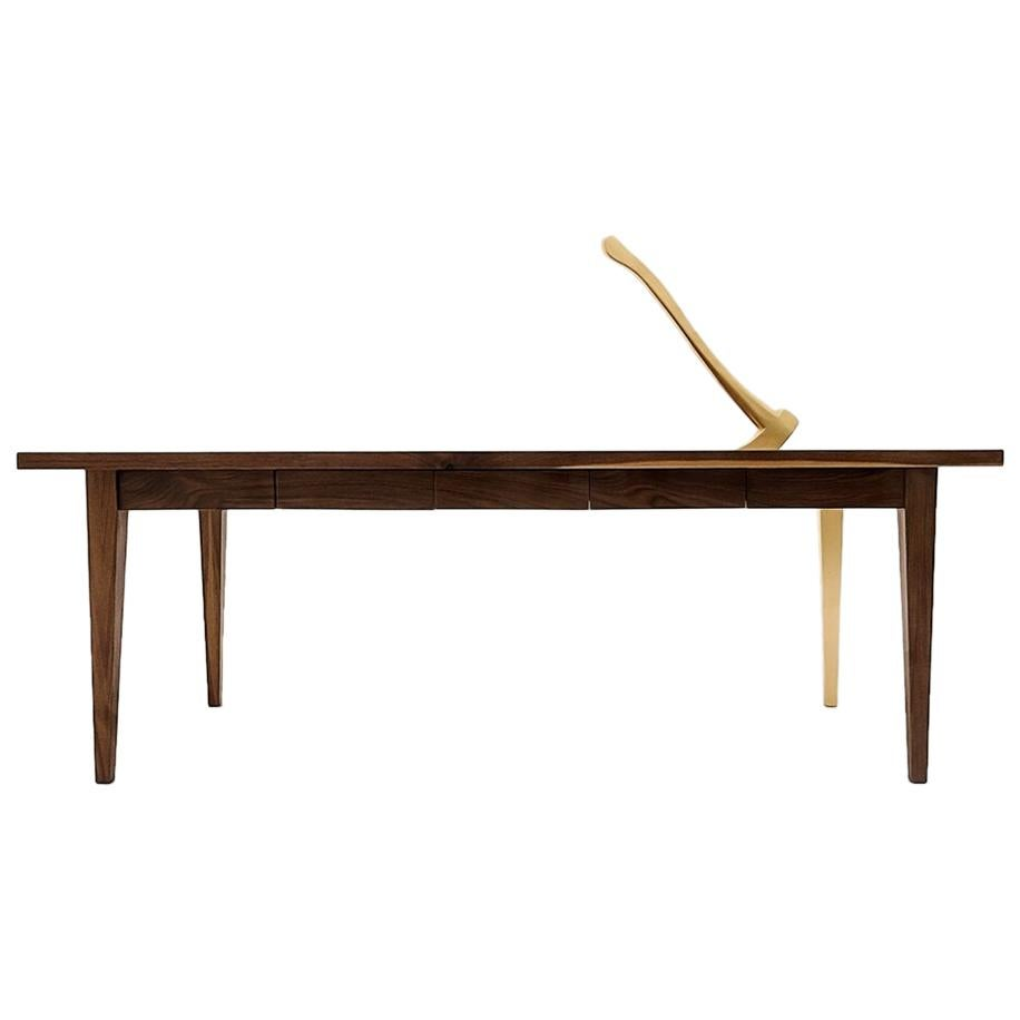 Grimm Walnut Gold Table