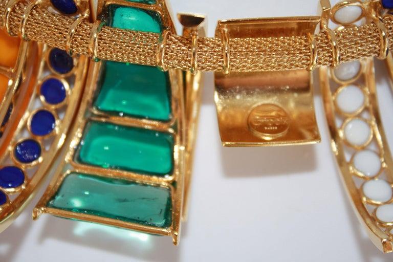 Gripoix Paris Multi Drop Glass Necklace  In New Condition For Sale In Virginia Beach, VA