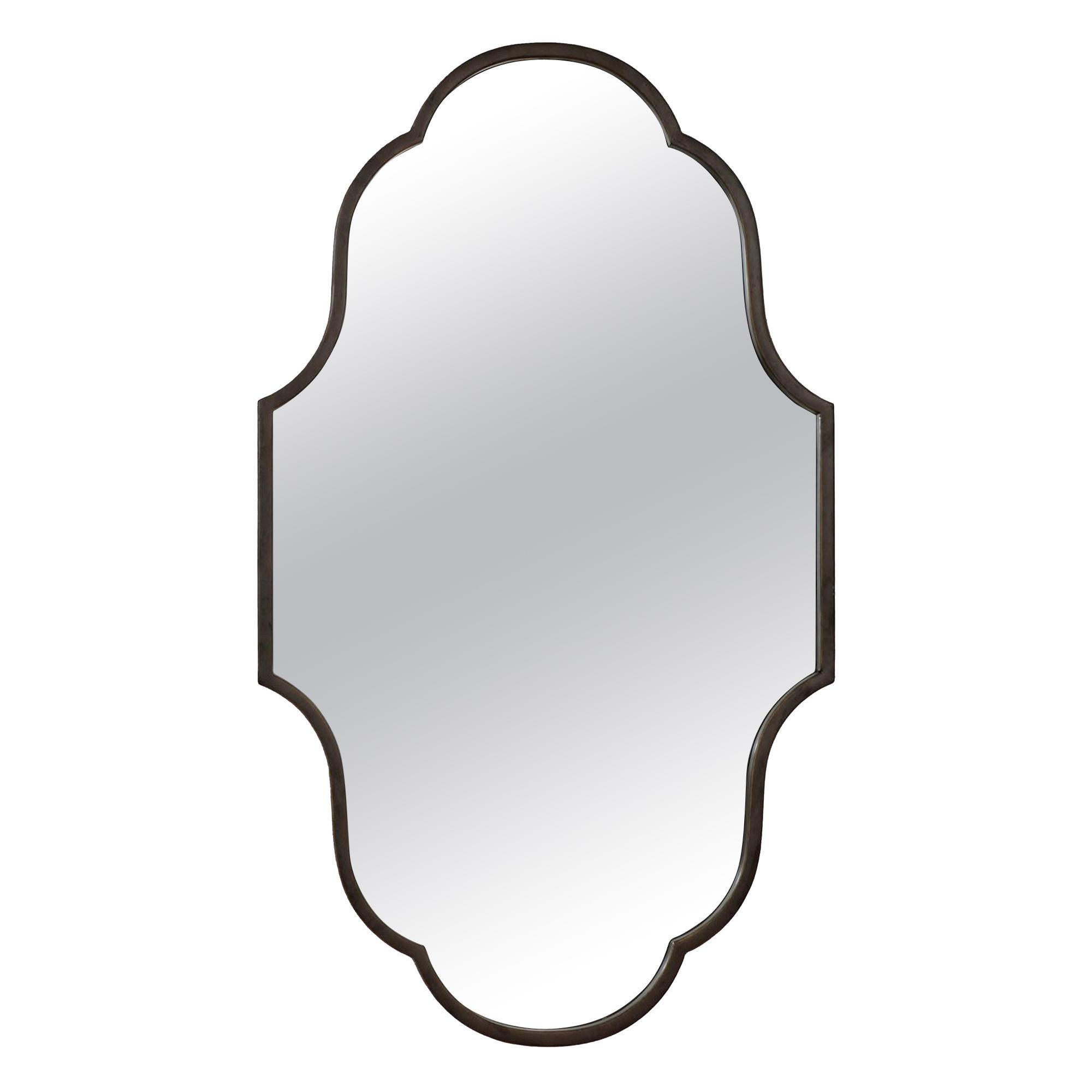 Gris Mirror in Metallic Gray by CuratedKravet