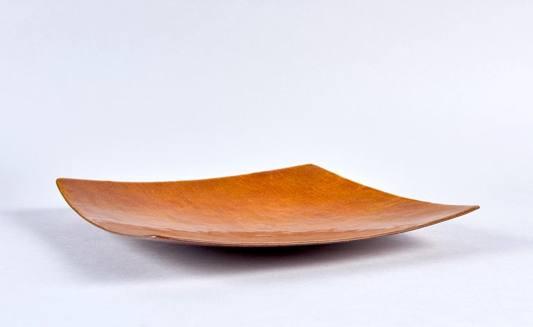 Mid-Century Modern Grisaile d'Oro Enamel Bowl by Studio Del Campo For Sale