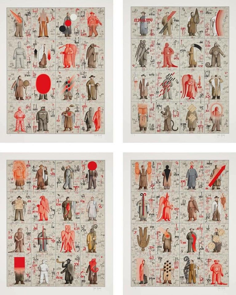 Grisha Bruskin Figurative Print - Notes (Note A, B, C, D)