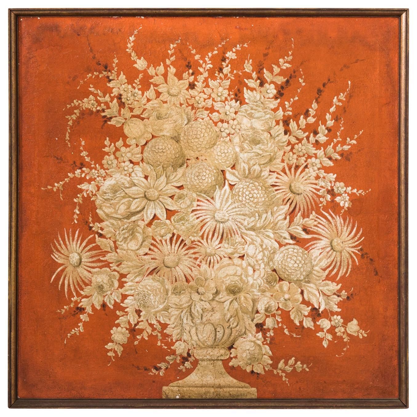 Grissaille Painting of Flower Arrangements