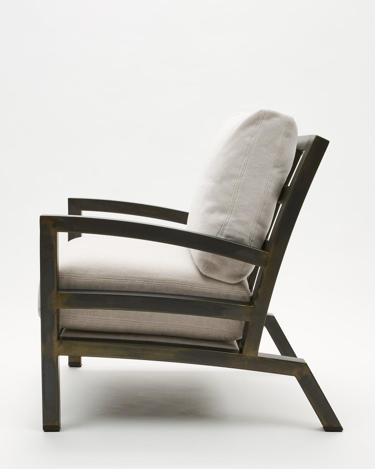 Modern Gil Melott BESPOKE TX6315 Handmade Custom Steel Urban Lounge Chair for Studio 6F For Sale