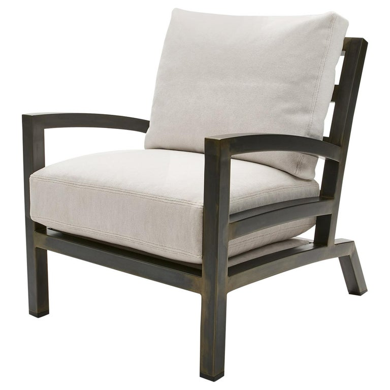 Gil Melott BESPOKE TX6315 Handmade Custom Steel Urban Lounge Chair for Studio 6F For Sale