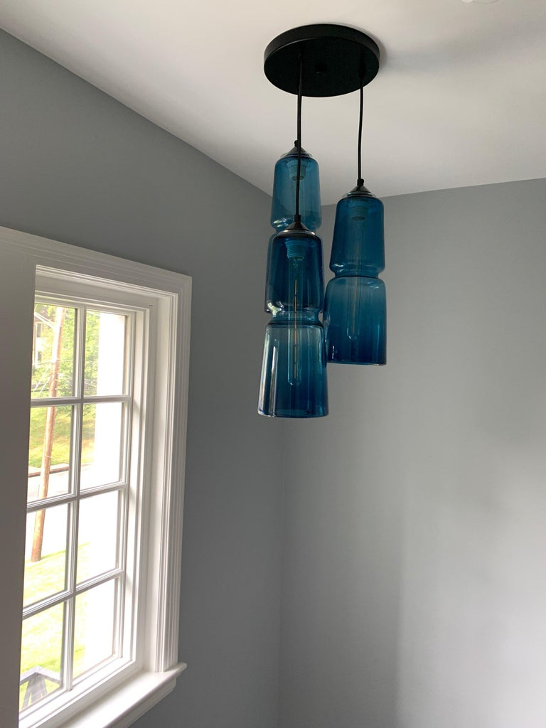Groove Series Cylinder Pendant, Modern Handmade Glass Lighting - In Stock For Sale 4