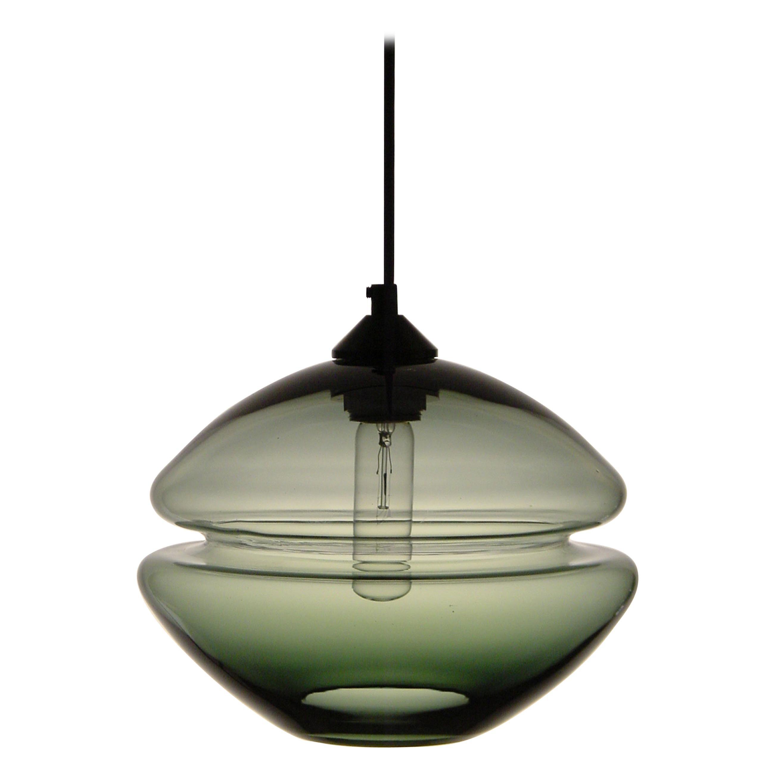 Groove Series Low Pod Pendant, Modern Handmade Glass Lighting