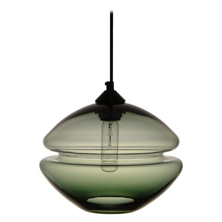 Groove Series Low Pod Pendant, Modern Handmade Glass Lighting For Sale