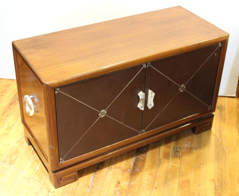 Grosfeld House Art Deco Mahogany Low Cabinets or Nightstands For Sale 4