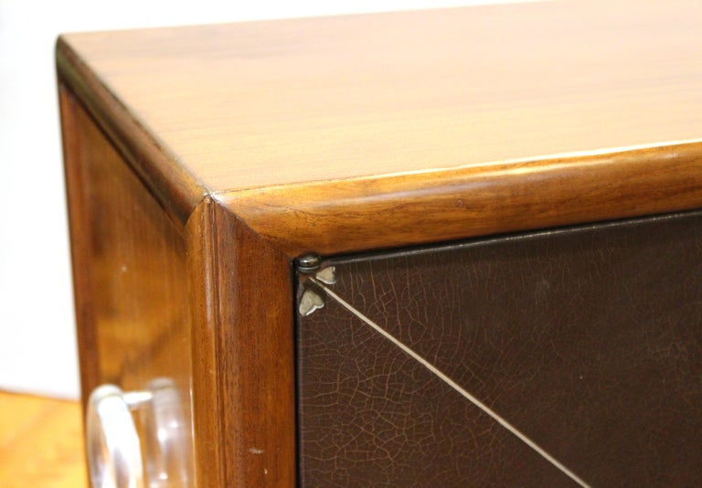 Grosfeld House Art Deco Mahogany Low Cabinets or Nightstands For Sale 5