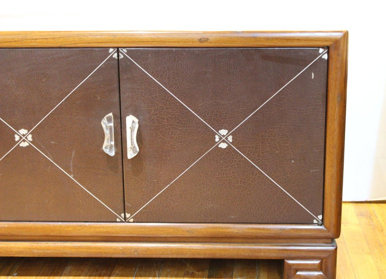 American Grosfeld House Art Deco Mahogany Low Cabinets or Nightstands For Sale
