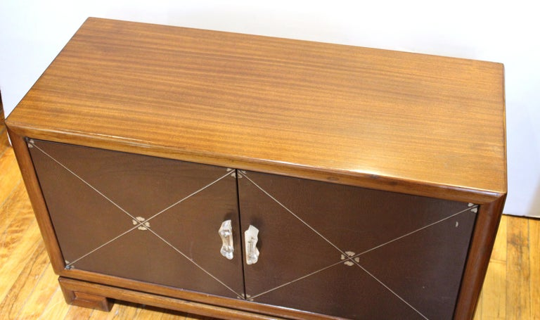 Grosfeld House Art Deco Mahogany Low Cabinets or Nightstands In Good Condition For Sale In New York, NY