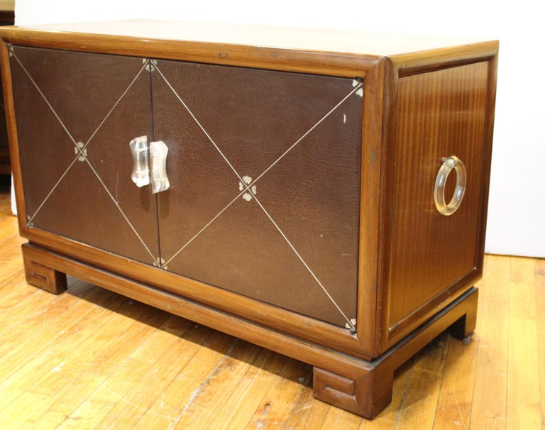 Mid-20th Century Grosfeld House Art Deco Mahogany Low Cabinets or Nightstands For Sale