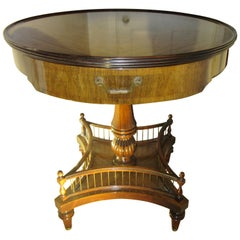 Grosfeld House Art Deco Round Rosewood Drum Table