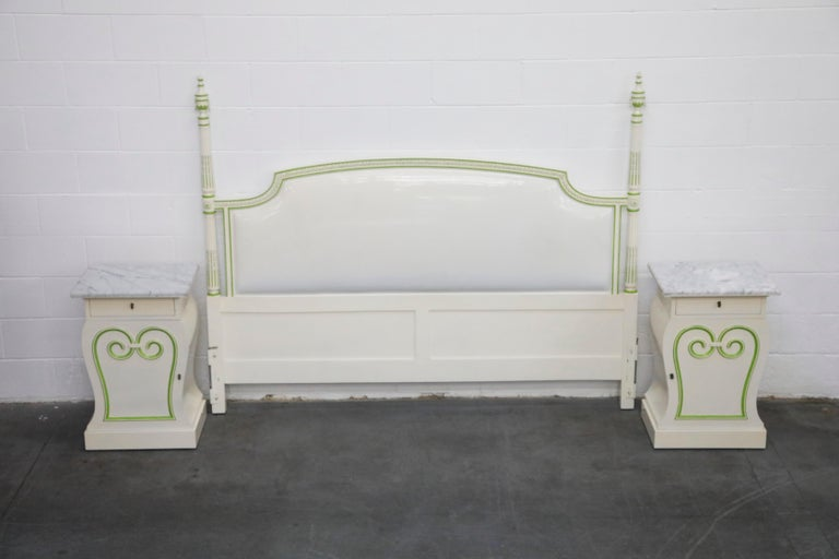Grosfeld House Carrara Marble Complete Bedroom Set, circa 1940s, Signed For Sale 7