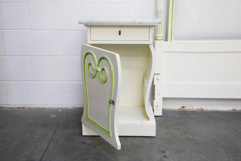 Grosfeld House Carrara Marble Complete Bedroom Set, circa 1940s, Signed For Sale 8