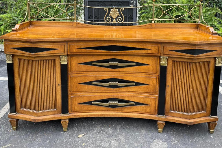 North American Grosfeld House Hollywood Regency Empire Credenza Buffet Server For Sale