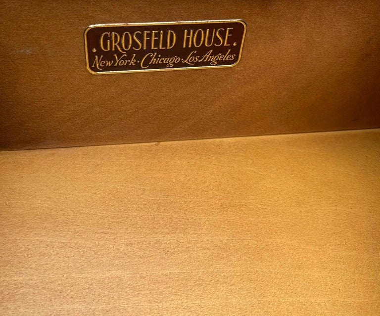 Grosfeld House Hollywood Regency Empire Credenza Buffet Server In Good Condition For Sale In LOS ANGELES, CA