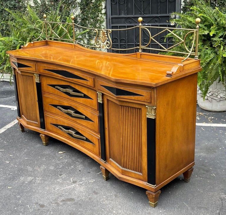 20th Century Grosfeld House Hollywood Regency Empire Credenza Buffet Server For Sale