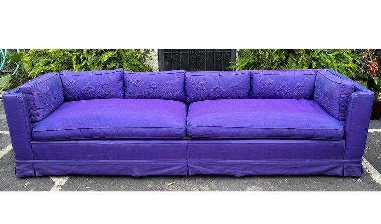 Mid-20th Century Grosfeld House Hollywood Regency Mid-Century Modern Long Low Sofa For Sale