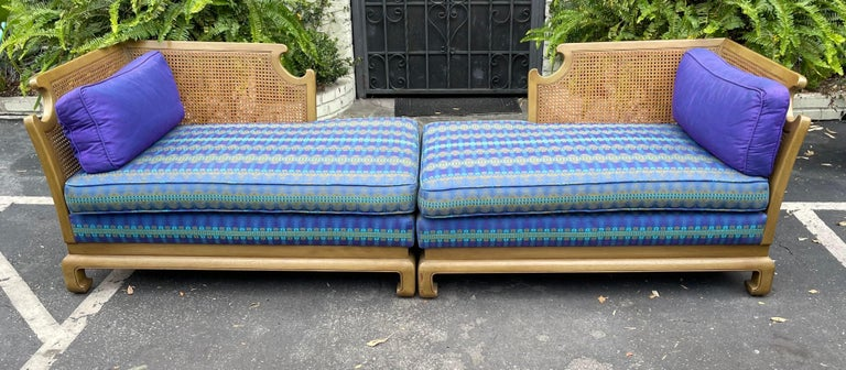 North American Grosfeld House Hollywood Regency Mid-Century Modern Chinese Chippendale Sofa For Sale