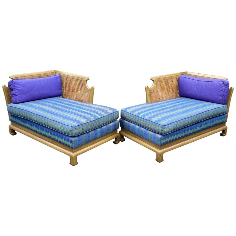 Grosfeld House Hollywood Regency Mid-Century Modern Chinese Chippendale Sofa For Sale