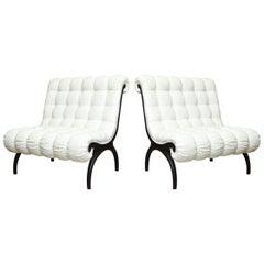 Grosfeld House Lounge Chairs or Settees Pair of Vintage Regency