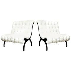 Grosfeld House Regency Lounge Chairs or Settees Pair of Vintage