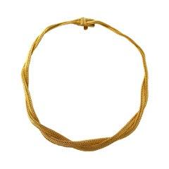 Grosse 18 Karat Yellow Gold Mesh Woven Necklace