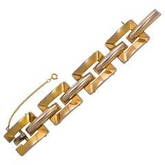 Grosse Gold Plated Link Statement Bracelet circa 1970s