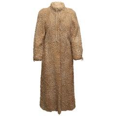 Grosvenor Beige Persian Lamb Long Coat