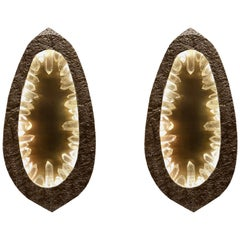 Grotto Rock Crystal Sconces by Phoenix