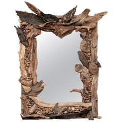 Grotto Style French Driftwood Mirror