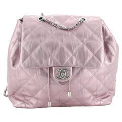 Ground Control Flap Backpack Quilted Iridescent Calfskin Small