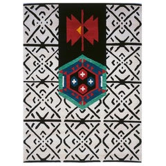 Ground Line 1 Woollen Carpet by Nanda Vigo for Post Design Collection/Memphis