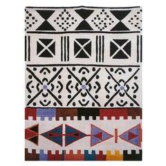 Ground Line 2 Woollen Carpet by Nanda Vigo for Post Design Collection/Memphis