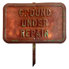 Ground Under Repair Staked Sign