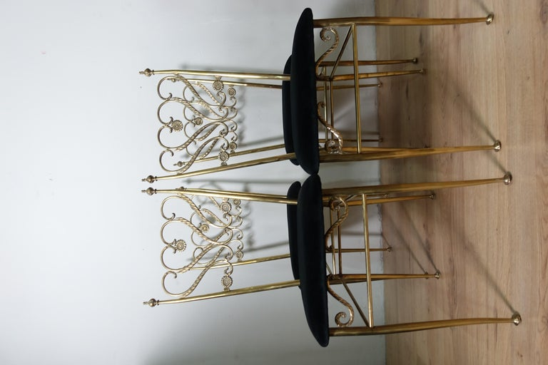 Group 4 Brass Chiavarina Chairs For Sale 2