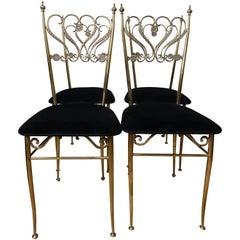 Group 4 Brass Chiavarina Chairs