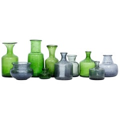 Group of 10 Swedish Glass Vases by Erik Höglund