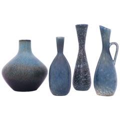 Group of 4 Stoneware Vases, Carl-Harry Stålhane, Rörstrand, 1950s