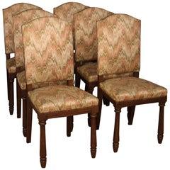 Group of 6 Italian Chairs in Beechwood