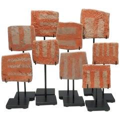 Group of 9 Ceramic Votive Plates, Araquipa, Peru, circa 14th Century