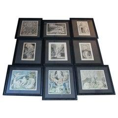 Group of 9 William Blake Artworks, 6 Engravings & 3 Watercolors