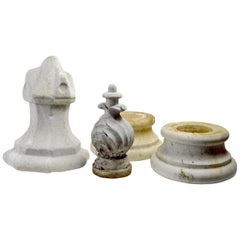 Group of Architectural Garden Marble Fragments