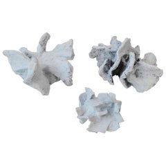 Abstract Sculpture Group in Chalk White Ceramic by Bryan Blow
