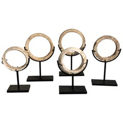 Group of Five Prehistoric Southeast Asian Shell Bangles, circa 3000-1500 BC