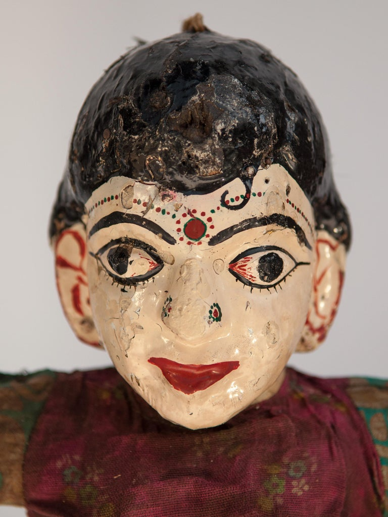 Group of Five Vintage Puppets, Newar People of Nepal, Early 20th Century For Sale 3