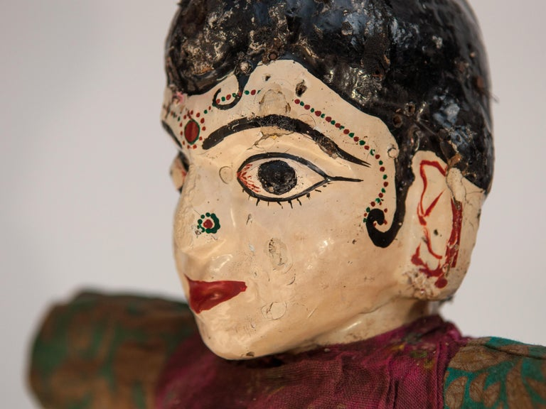Group of Five Vintage Puppets, Newar People of Nepal, Early 20th Century For Sale 5