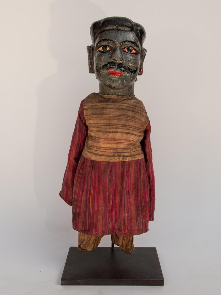 Group of Five Vintage Puppets, Newar People of Nepal, Early 20th Century For Sale 6