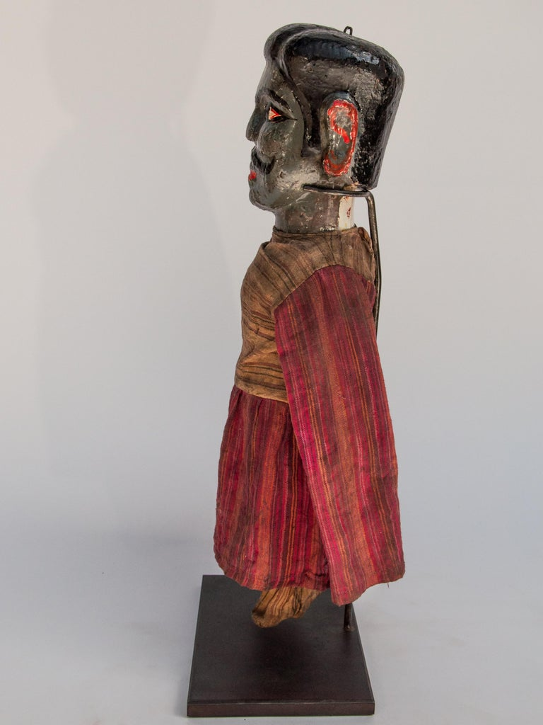 Group of Five Vintage Puppets, Newar People of Nepal, Early 20th Century For Sale 8